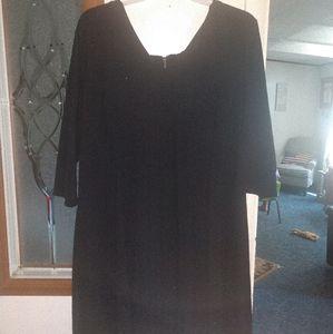 Black hi low swing dress